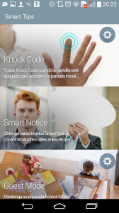 Knock Code Smart Notice y Guest Mode funciones del LGG3.