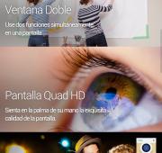 La pantalla de LGG3 es aprovechada por la función Ventana Doble y por su pantalla Quad HD.