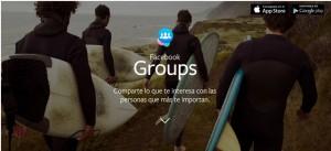 Grupos la nueva app de Facebook.