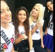 Selfie miss libano y miss Israel