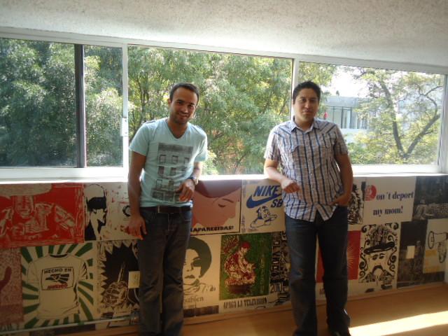 De Izq. a Der. David Zepeda y Carlos Espinoza Fundadores 3er. Espacio.